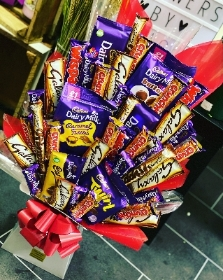 Dairy Milk, Galaxy & Crunchie Chocolate Bouquet